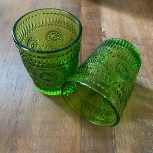🏡 [home] 2 decorative drinking glasses